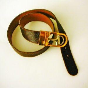 Vintage GUCCI Reversible Horse-bit Leather Belt